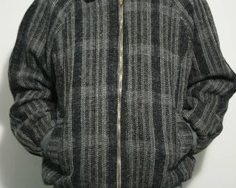 Mohair Tweed Bomber Jacket