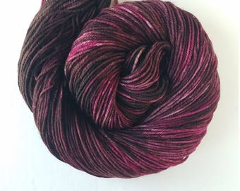 Blood of my Enemies,   hand painted indie yarn