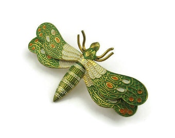 Damascene Dragonfly Pin from Spain