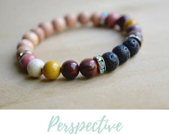 Mookaite Bracelet / unusual bead jewelry, jasper bracelet, jasper yoga bracelet, jasper jewelry real, my intent bracelet, grounding jewelry
