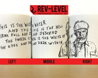 """Twin Peaks """"This Is The Water, This Is The Well"""" Sketch Mug -David Lynch Creepy Charcoal Man Coffee Cup by Rev-Level"""