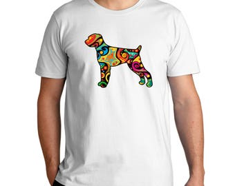 Psychedelic German Wirehaired Pointer T-Shirt