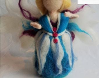 Oona the Blue Fairy, Needle felted fairy, Christmas fairy decoration, Fairy ornament