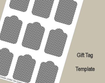 circle gift tag template - 12mm circle template instant download psd png and svg