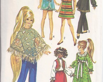 Simplicity Crafts 9138  Pattern from 1970:  Wardrobe for 15 1/2inch doll (Chrissy or Velvet)