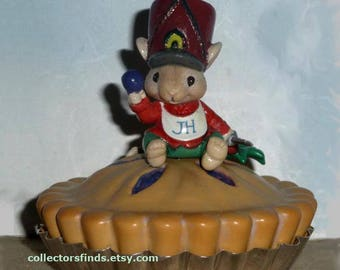 New Enesco Treasury LITTLE JACK HORNER Ornament, Mousery Rhymes,  Never Displayed, Original Box