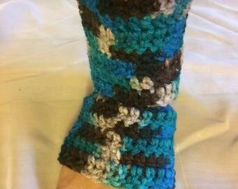 Crochet multi-color Yoga, dance socks