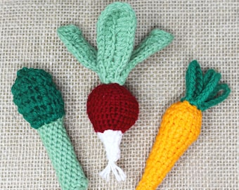 Vegetable Rattle - Easter Baby Gifts - Easter Baby Toys - Easter Basket Stuffers - Baby Rattle - Rattle Teething Toy