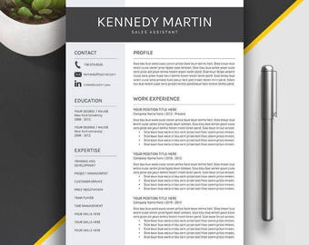 professional resume template cv template cover letter creative simple modern resume 1