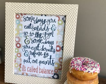 Instant Download_Donuts=Balance Print