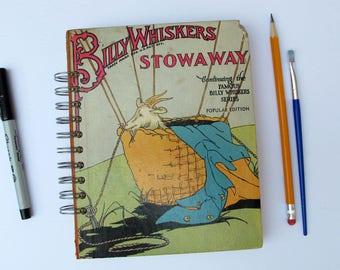 antique book junk journal, vinage mixed media journa