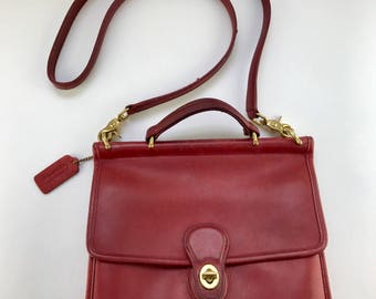 RARE Red Coach Willis Bag | Vintage Leather Crossbody Purse