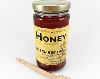 Honey - Raw Pure Unfiltered Wildflower Honey Honeybees Apiary Beekeeping Beekeeper Pollen Nectar Tennessee Farm Fresh PickTNProducts
