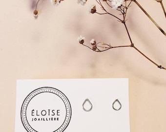 sterling silver earrings, minimalist earrings, raindrop earrings, minimalist earrings, dangle earrings drop, sterling silver