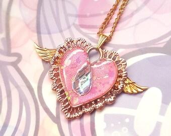 Magical Heart Pendant Necklace - Sweet Lolita Fashion Jewelry