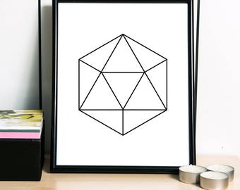 Geometric Print, Polygon Art Print, Scandinavian Print, Modern Print, Simple Print, Geometric Artwork, Abstract Art - 3 DIFFERENT Sizes
