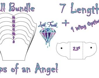 """Lips of an Angel/Full Bundle/Cloth Pad Pattern/2.5"""" Snapped Width/Leak Freak Compatible"""