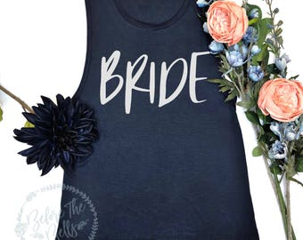 Bridal Tank Top. Bride Muscle Tank. Muscle Tank Top. Bachelorette Party Shirt. Bride Shirt. Wedding Party Tank. Bridal Shower Gift.