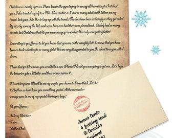 santa letters etsy