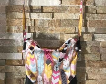 Bag strap shoulder adjustable Vegan all use light feather hand bag