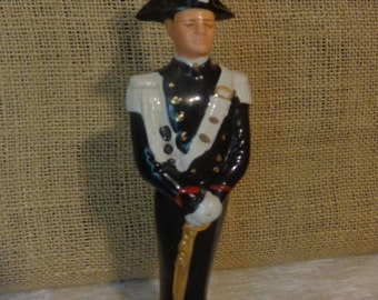 Vintage Liquore Galliano Soldier decanter, made in Italy