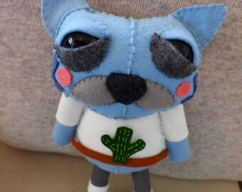 Kramer the Cat - handmade plush creature plushie toy (Japanese sushi cat) - unique birthday gift