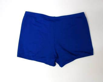 90s Blue Swimshorts // Womens Swimshorts // Womens Nylon Bikshorts  // 90s Sportswear