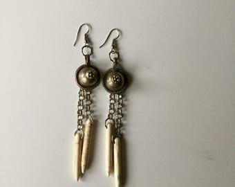 Tribal Fusion earrings/Kuchi Earrings/Gawazee earrings/Tribal fusion earrings/Gypsy earrings/boho earrings/boho chic/red and bronze