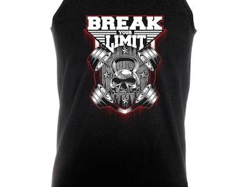 Break Your Limits -  Bodybuilding Motivation Black Men's Clothing Workout Vest TOP MMA