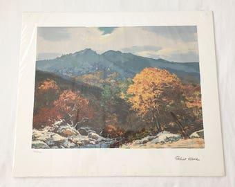 Robert Wood DUSK RIVER LANDSCAPE Signed Serigraph Print 20 x 24  760/1000