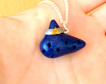 Ocarina of Time Necklace or keychain The legend of zelda