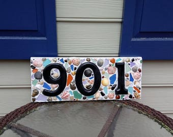 "Beach House Address Plaque - Custom Size Approx 18""x8"""