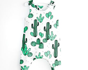 Baby Romper, Romper,  Toddler Romper, Organic Cotton, Cactus, Newborn Romper, Girl Romper,  Boy Romper,  Organic Baby Clothes, Hipster baby