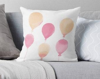 Balloons Nursery Pillow , Balloons Pillow , Kids Room Decor , Nursery Throw Pillow , Baby Pillow , Childrens Pillow , Kids Cushion