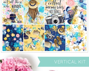 Escape | VERTICAL KIT | Weekly Kit | Erin Condren | Planner Stickers