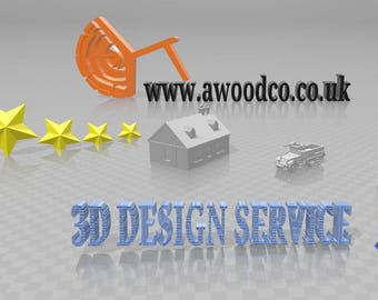 3D Design service - Contact for QUOTE - COMPLETE service - Text, designs, models, company logos