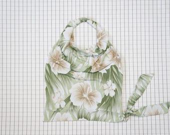 90's Halter Top, Hawaii Drapey Neck Halter, Hibiscus Flower Halter, Island Girl, Tropical, Beach Wear, Tumblr, Aesthetic
