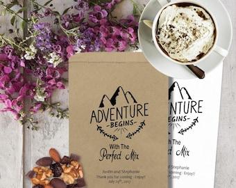 Personalized Trail Mix Bags - Trail Mix Bar Bags - Perfect Mix - Wedding Treat Bags - Wedding Favors TMB02Tvvi
