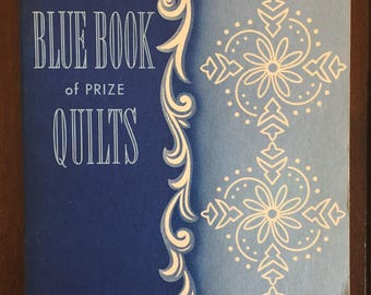 The Mountain-Mist Blue Book of Prize Quilts, 1950 vintage book