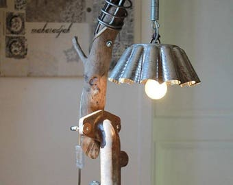 """Lampe industrielle """"Charlotte du flottin"""" By Recyclhome."""