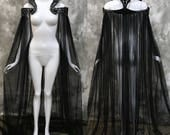Gothic Baroque Collar Cloak ~ Wicca Cape Witch Outfit ~ Fairy Fantasy Elven Dark Pagan Medieval ~ Perfect choice for your goth wedding dress