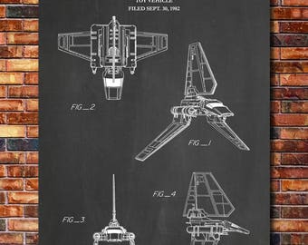 Patent Print of Imperial Shuttle 1985