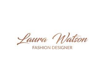 Copper Logo, Photography Logo, Logo Design, Premade Logo, Business Logo, Rose Gold Logo, Calligraphy Logo, Minimalist Logo, Fashion Logo