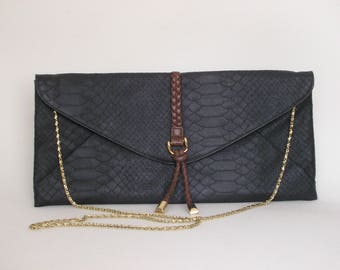 Casual black bag, clutch, bag pouch, free shipping