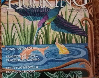 Rug Hooking Magazine - NEWEST Issue - March/April/May 2018