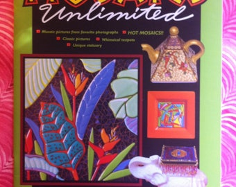 Mosaics Unlimited, by Christine Stewart - includes hot mosaics, tea pots, mosaic statuary (Softcover 36 pgs)