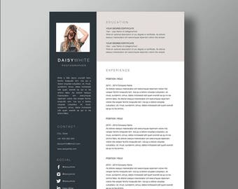 Daisy Resume and Cover letter template | Professional Microsoft Word Resume | CV template | Resume Design
