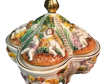 Vintage Hand Painted Portuguese Candy Dish