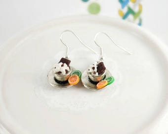 Gourmet Chocolate Cup earrings