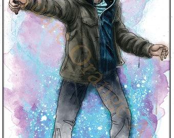 Daniel Radcliffe as Harry Potter the Half Blood Wizard Original Splash Style A4 Print
